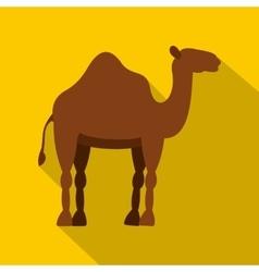 Dromedary camel icon flat style vector