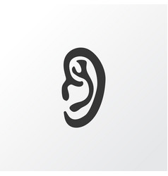 Ear icon symbol premium quality isolated listen vector