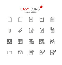 easy icons 13a docs vector image