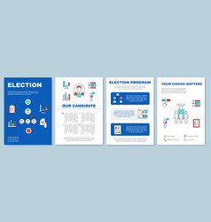 Election brochure template layout candidate vector