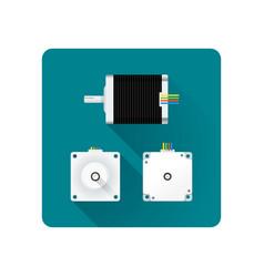 electric motor flat vector image