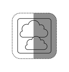 Figure cound data network icon vector