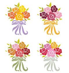 Flower bouquets vector