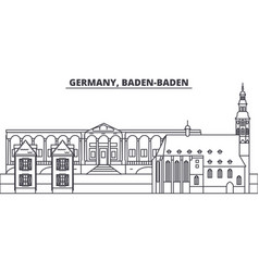 Germany baden baden line skyline vector