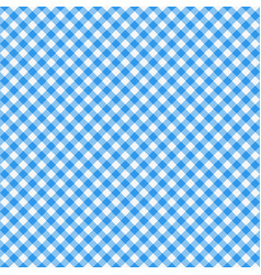 gingham seamless pattern blue italian tablecloth vector image