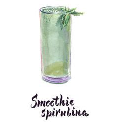 Glass spirulina vector