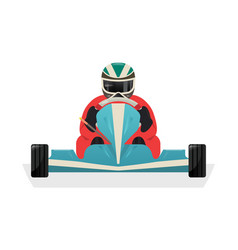 Go kart racer isolated icon vector