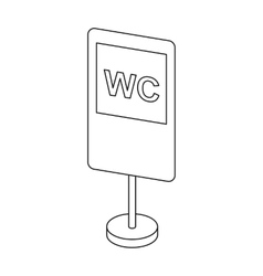 Guide road sign icon in outline style isolated on vector image