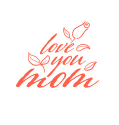 happy mother s day calligraphy background love vector image