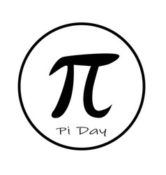 Happy pi day icon on white background flat style vector
