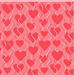 Heart seamless pattern vector
