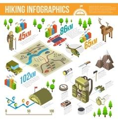 Hiking Infographics Set vector image