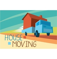 House moving concept vector
