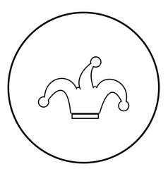 Jesters cap icon black color simple image vector