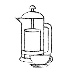 kettle kitchen utensil vector image