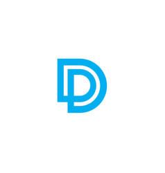 letter d logo design abstract vector image