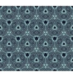 Linear geometric pattern 50s wallpaper design vector