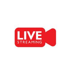 Live stream logo design vector