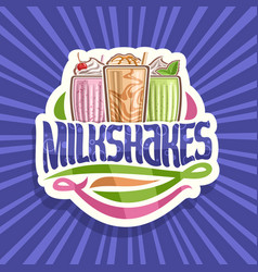 logo for milkshakes vector image