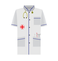 Medical dressing gown vector