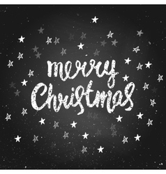 Merry Christmas greetings slogan on chalkboard vector image