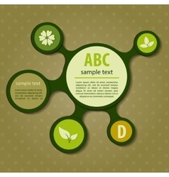 Modern green ecology Design vector image