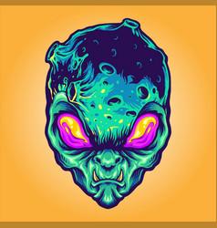 Monster alien galaxy vector