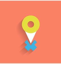 navigation icon modern flat design vector image vector image