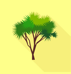 needle palm tree icon flat style vector image vector image