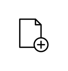 New document page plus icon can be used for web vector