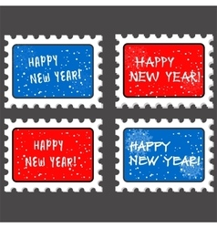New year stamp and postmark vector