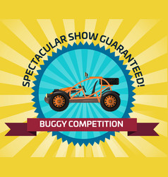 Off road buggy car competition banner vector