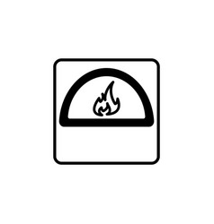 oven line icon black on white vector image