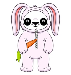Panda in bunny suit vector