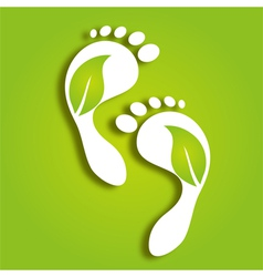 Paper foot prints vector