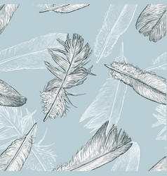 Pattern birds feathers vector
