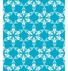Pattern from snowflakes vector