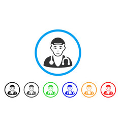 Physician doctor rounded icon vector