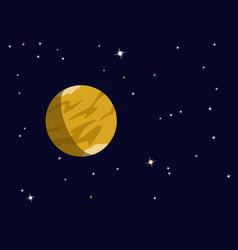 planet saturn or venus vector image