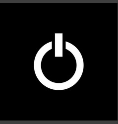 Power icon on black background black flat style vector