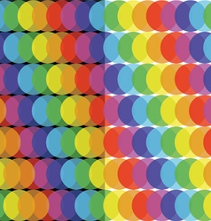 Rainbow ball pattern vector