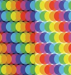 Rainbow ball pattern vector