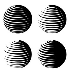 rotating sphere speed lines symbol vector image