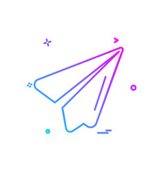 send icon design vector image
