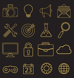 set of linear icons in trendy style - tools and vector image