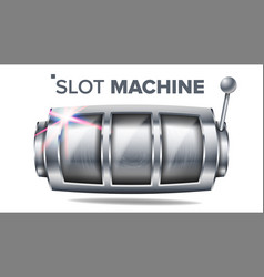 slot machine silver lucky empty slot big vector image