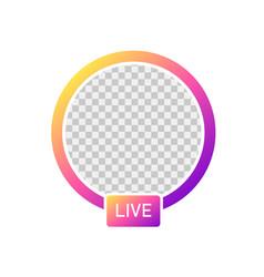 social media icon avatar stories stories user vector image