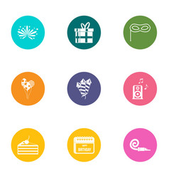 Solemnity icons set flat style vector