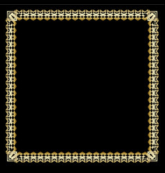 square border with 3d embossed effect ornate vector image