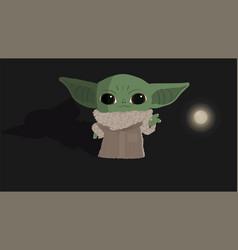 Star wars mandalorian bayoda alien vector